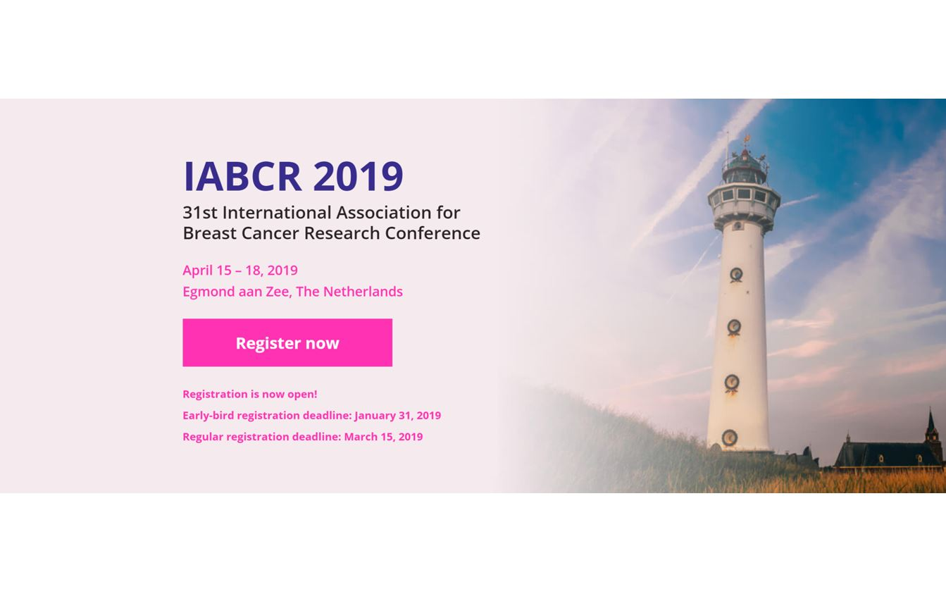 31st Conference of the International Association for Breast Cancer Research (IABCR 2019) – Registration deadline – 15th March! — Thumbnail image